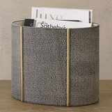 Winston Leather Wastebasket | Brown