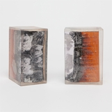Wolfeboro Burnt Wood Bookends