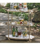 Woodland Bar Cart | Brass