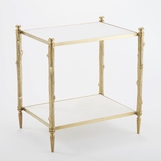 Woodland Side Table | Brass
