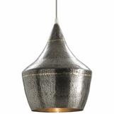 Wyler Narrow Pendant | Dark Silver & Brass