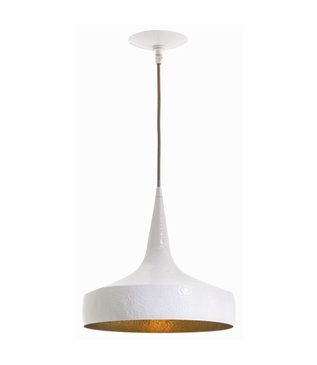 Wyler Wide Pendant | White