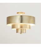 Wynette Brass Flush Mount