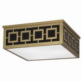 Wynn Square Flush Mount | Antique Brass