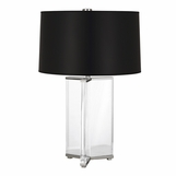 Yael Wide Crystal Lamp | Nickel