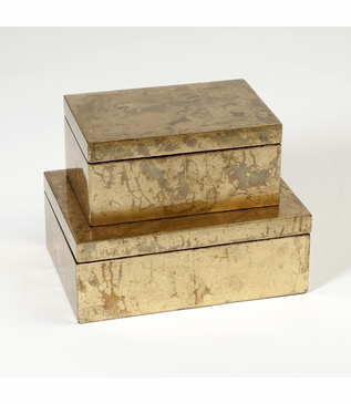 Yen Lacquered Boxes   Gold Leaf