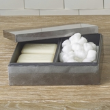 Yen Lacquered Vanity Box | Charcoal Leaf
