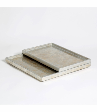 Yen Leafed Shallow Trays | Silver