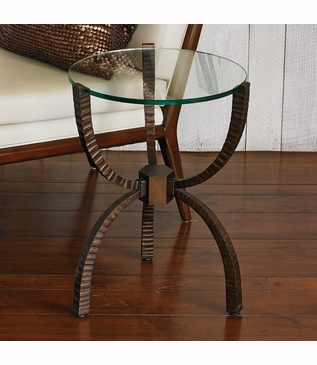 Yoruba Iron Side Table | Bronze