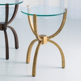 Yoruba Iron Side Table | Gold