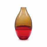 Zella Wide Vase | Amber & Red
