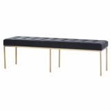 Zesta Tufted Leather Bench