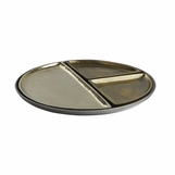Zeta Round Trays Set | Brass