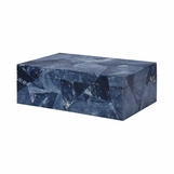 Zimbo Tiled Box | Blue Triangle