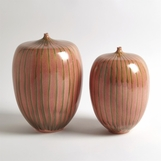 Zita Striped Ceramic Vases