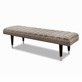 Zoey Bench, Tapered Nickel Sabots