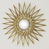 Zona Starburst Mirrors | Brass