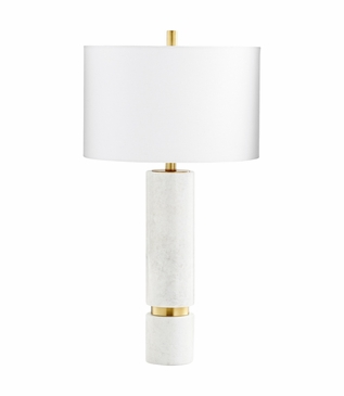 Zoran Marble Table Lamp | Brass