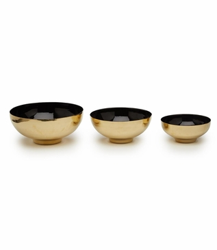 Zula Brass Bowls Set | Black