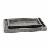 Zurich Stone Trays Set | Grey Marble