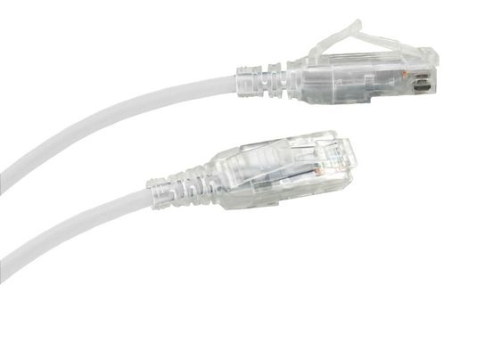 6Ft Cat6A Slim Jacket Unshielded (UTP) Ethernet Cable - White - 10 Pack