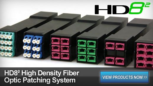 HD8� High Density Fiber Optic Patching System