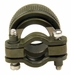 MIL SPEC Circular Backshell, CONN CABLE CLAMP SZ 13 C SLVR