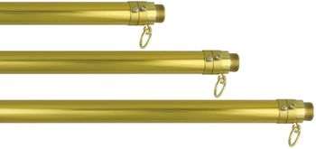 Adjustable Indoor Aluminum Flagpole 2Pc