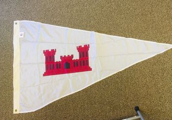 """Army Corps Of Engineers District Pennant  29"""" x 45"""" w/Grommets"""