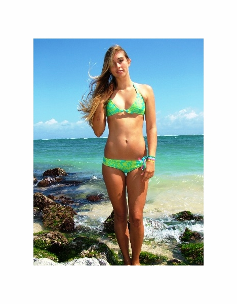 MAUI WEAR T054-B076 WOMENS BIKINI SET BRAZILIAN LYCRA