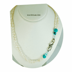 New Maui Inspired Designed Fashion Bead Necklaces w/ Silver Clasp. #12