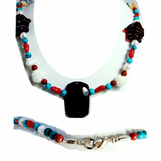 New Maui Inspired Designed Fashion Bead Necklaces w/ Silver Clasp #3