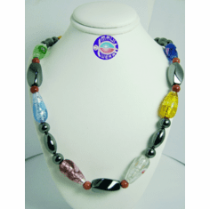 New Maui Inspired Designed Fashion Bead Necklaces w/ Silver Clasp #4