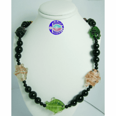 New Maui Inspired Designed Fashion Bead Necklaces w/ Silver Clasp #5