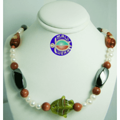 New Maui Inspired Designed Fashion Bead Necklaces w/ Silver Clasp #6