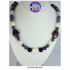 New Maui Inspired Designed Fashion Bead Necklaces w/ Silver Clasp #9