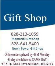 Gift Shop - 828-213-1059 for Memorial Gift Shop & 828-641-5400 for North Tower Gift Shop