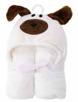 Hooded Baby Blanket - Dog