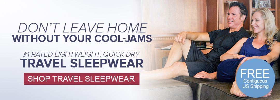 Quick drying, lightweight, compact travel sleepwear