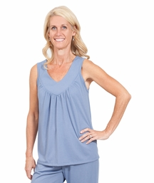 MIX AND MATCH MOISTURE WICKING GATHERED TANK