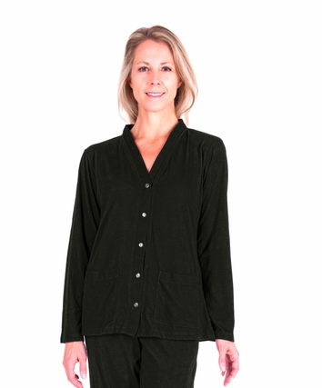 MIX AND MATCH MOISTURE WICKING PJ TOPPER WITH POCKETS-SOLID