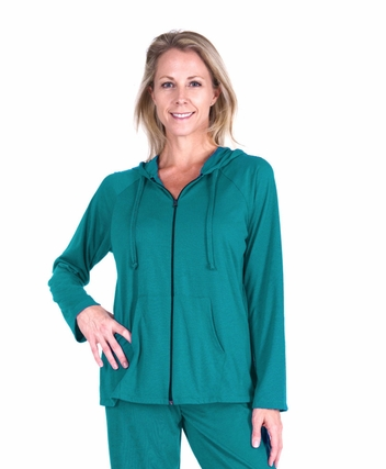 MIX AND MATCH MOISTURE WICKING  ZIP HOODIE LOUNGE JACKET