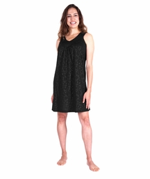 MOISTURE WICKING GATHERED TANK NIGHTGOWN