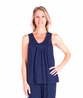MOISTURE WICKING GATHERED TANK PJ SET