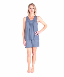 MOISTURE WICKING GATHERED TANK SHORT PJ SET