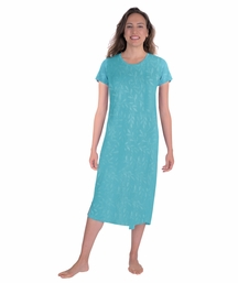 MOISTURE WICKING SCOOP NECK NIGHTSHIRT