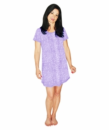 MOISTURE WICKING SCOOP NECK NIGHTSHIRT/COVER-UP
