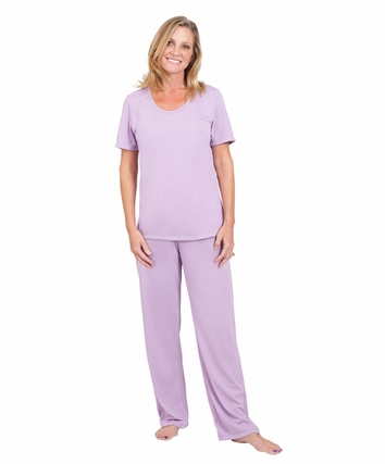 MOISTURE WICKING SCOOP NECK PAJAMA SET