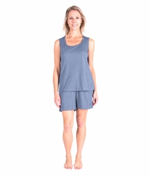 MOISTURE WICKING SCOOP TANK SHORT SET