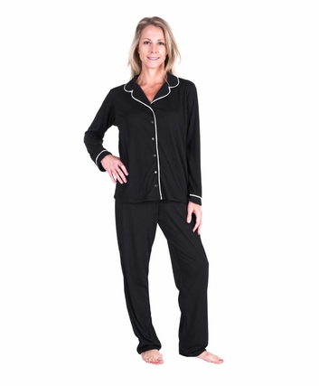 MOISTURE WICKING SOPHIA BUTTON FRONT PAJAMA SET